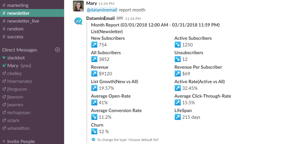 Daily, weekly and monthly reports - app sceenshot